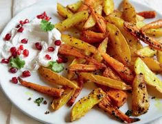Spicy Potato & Carrot Chips With Sweet Yoghurt Dressing Recipe         |          I love my food