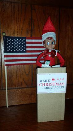 Make Christmas Great Again, Days Before Christmas, The Elf, Elf On The Shelf, Elf Magic, Holiday Fun, Holiday Decor, Onion Dip, Santa's Little Helper