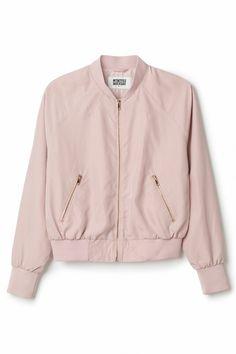 Weekday | New Arrivals | Marigold Bomber Jacket Light Pink Bomber Jacket, Tan Bomber Jacket, Pale Pink Jacket, Bomber Jackets, Outerwear Jackets, Lightweight Jacket, Sweater Jacket, Parka, Bombers
