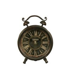 Antinqued Tabletop Iron Clock by VIP, http://www.amazon.com/dp/B004Y5OFB2/ref=cm_sw_r_pi_dp_3mTfrb1W4EK2D