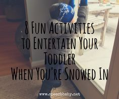 Well, this is a first. I'm snowed in with my toddler while my husband is off gallivanting. He is duck hunting, having fun I'm sure. And that's ok, my son and I are making our own …