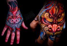 Tattoo done by Yushi, tattooist based in Seoul, South Korea.