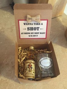 Asking your groomsmen/best man to be a part of your big day!