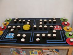 Not for sale. Birthday Games, 6th Birthday Parties, Man Birthday, Birthday Ideas, Graduation Parties, 12th Birthday, Pac Man Party, Party Rock, Video Game Party