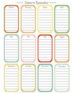 Home Management Binder - Important Dates  Join me in making a binder to manage your home. FREE printables will be added to the site throughout January:)