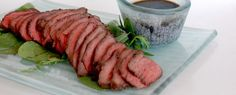 This is Japanese roast beef, served rare in a delicious Asian marinade.