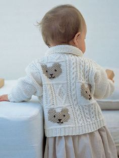 63c2ba64b94b8 Cable and Teddybear Jacket. Baby PulloverFree Baby Knitting PatternsBaby ...