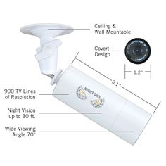 """Want a high resolution camera you can hide? Look no further! The CAM-MINI-B908W is a compact mini bullet camera (3.1""""L x 1.2""""D) that provides true 900TVL of resolution day or night. Designed for indoor & outdoor use, the CAM-MINI-B908W is the perfect choice where an inconspicuous yet high performing camera is needed."""