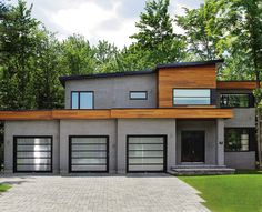 Shouldice offers a comprehensive range of interior & exterior residential brick veneer products in Canada. Shop online, or call Dream House Plans, Modern House Plans, Modern House Design, Modern Garage, Modern Exterior, Building Exterior, Building A House, Building Ideas, Future House