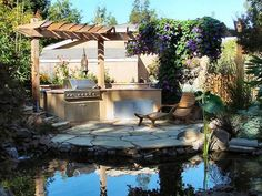 pond rocks with barbeque facilities Beautiful Organic Pond Style Tips For Backyard And Backyard interior design ideas