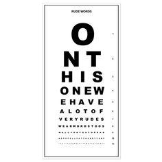 Personalised Eye Chart from Firebox.com