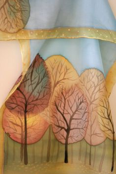 Handpainted silk scarf by SilkHome,