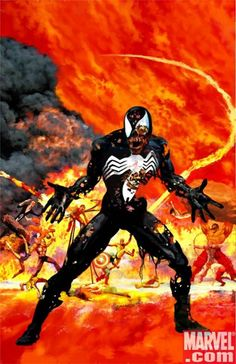 "Super heroes as zombies. The series ""Marvel Zombies"" by Arthur Suydam."