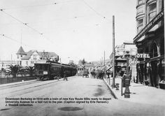 Back when the Key Route was new! Berkeley in 1910. John Stashik Collection