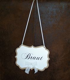 reserviert für die Braut! Schild-Stühle- Hochzeit-Vintage-Spitze