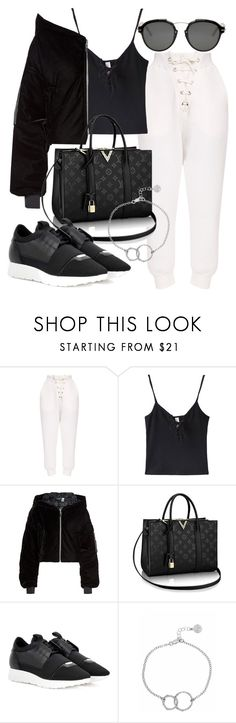"""Untitled #21159"" by florencia95 ❤ liked on Polyvore featuring WithChic, Puma, Balenciaga, Chupi and Christian Dior"