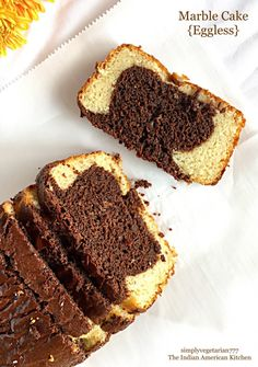 How to bake eggless marble cake at home with easy ingredients?, eggless Marbel Cake, eggless chocolate marble cake, cake without eggs, Choco Vanilla Cake Eggless Desserts, Eggless Recipes, Eggless Baking, Easy Desserts, Baking Recipes, Dessert Recipes, Free Recipes, Dairy Recipes, Vegan Baking