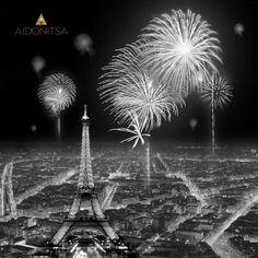 Print με strass 90x90. Από την Alphab2b.gr Firework Painting, Fireworks, Dandelion, Paris, Flowers, Products, Montmartre Paris, Dandelions, Paris France