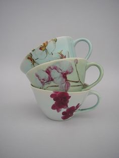 Sarah Reed teacups - lovely