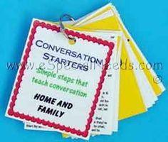 Home & Family Conversation Starter Cards | ABA & Autism | Conversation | e-Special Needs