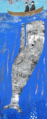 Morfil o dan cwch bach - Whale