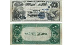 The 16th $10/$20 double-denomination error known resulted when a sheet of three $10 notes and one $20 note was inverted between the two printings of face and back. A companion $20/$10 note would also have been printed, but is unknown.