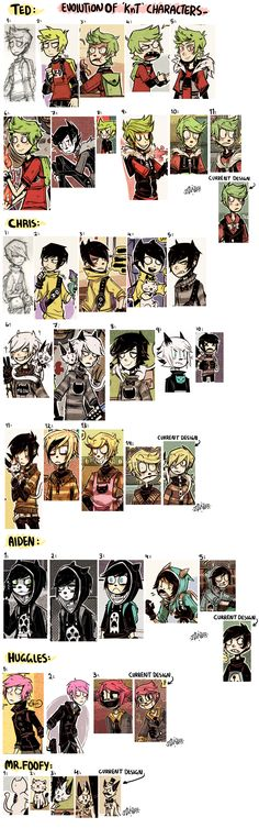 +KnT - Evolution Of My Characters+ by Z-Doodler.deviantart.com on @DeviantArt