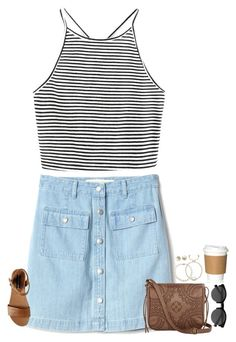 """""""not my style but kinda cute"""" by secfashion13 ❤ liked on Polyvore featuring Gap, Steve Madden, T-shirt & Jeans, EyeBuyDirect.com, Lord & Taylor and Carolee"""