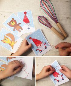 ompelukuvat I free printable paper | lasten | lapset | askartelu | joulu | joulukortit | kortit | kortti | käsityöt | kädentaidot | idea | koti | DIY ideas | kids | children | crafts | christmas | home | cards | greetings | Pikku Kakkonen