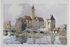 Edward Wesson British Watercolor (1910-1983)