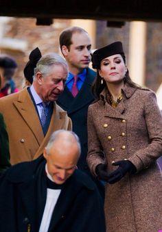 Prince Charles, Catherine, Duchess of Cambridge and Prince William, Duke of Cambridge