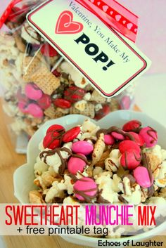 Echoes of Laughter: Sweetheart Munchie Mix +Free Printable Tag