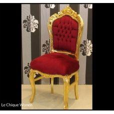 Barok stoel chique   goud bordeaux