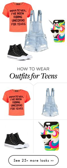 """""""Unicorns are magical!!"""" by lulubeans101 on Polyvore featuring H&M, Converse and claire's"""