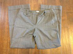 Ann Taylor LOFT Women Ann Dark Gray Cuffed Dress Pants Size 12 #AnnTaylorLOFT #DressPants