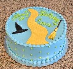 Simple Wizard of Oz Yellow Brick Road Cake By Sugarland