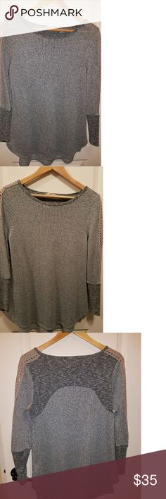 Soft Surroundings knit top-tunic Great condition soft surroundings tunic. Very comfy, pretty light blue color. Only worn a couple of times. Soft Surroundings Tops