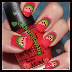 watermelon  by thatleanne  #nail #nails #nailart