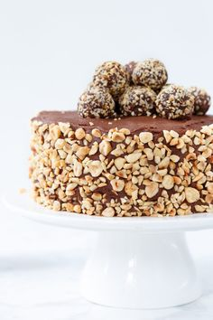 Goat Cheese Cake with Hazelnut, Easy and Cheap - Clean Eating Snacks Ferrero Rocher Cheesecake, Snickers Cheesecake, Cheap Clean Eating, Clean Eating Snacks, Healthy Snacks, Dog Food Recipes, Cake Recipes, Cold Cake, Vegetarian Cheese