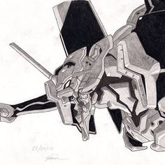 Here's a sketch I did a while ago of Neon Genesis. #EvaUnit1 #Illustration #joshuagdesign #NeonGenesis