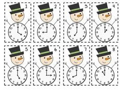 Frosty Time Freebie: telling time to the hour and half hour (January - Grade) Teaching Time, Teaching Math, Teaching Tools, Math Stations, Math Centers, Math Classroom, Kindergarten Math, Math Resources, Math Activities