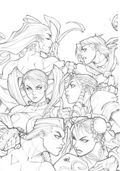 Street Fighter cover pencils by Joe Madureira