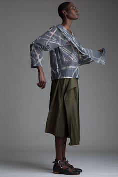 Vintage Hishimuma Yoshiki Blouse and Yohji Yamamoto Pleated Skirt. Designer Clothing Dark Minimal Street Style Fashion