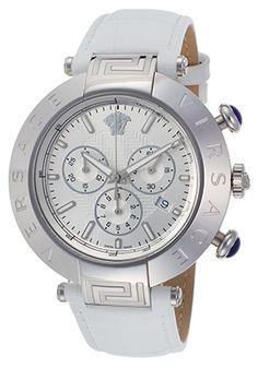 versace in Watches Versace Men, Chronograph, Watches, Silver, Leather, Stuff To Buy, Free Shipping, Accessories, Ebay