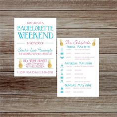 Nautical Bachelorette Party Itinerary Invitation Navy And Gold Schedule Timeline Weekend Pinterest