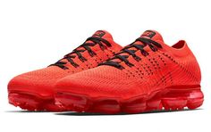 CLOT Gives the Nike Air VaporMax an All-Red Makeover - Freshness Mag Nike Basketball Shoes, Cheap Nike, Sneakers Nike, Adidas Shoes, All Red Nike Shoes, Running Shoes Nike, Black Running Shoes, Nike Air Vapormax, Nike Air Max 90s