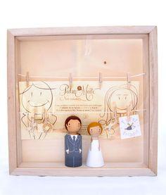 Marco Expositor para Figuras de Boda El Pez Volador / Wedding Toppers Display El Pez Volador