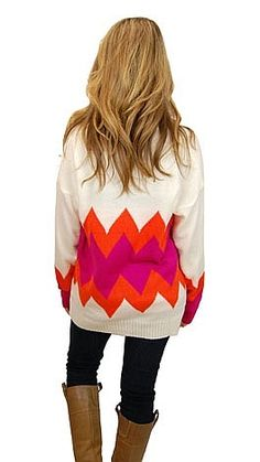 bright and fun chevron sweater