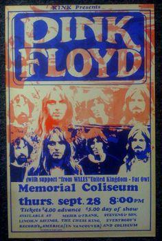 Pink Floyd at Portland's Memorial Coliseum 9/28/72