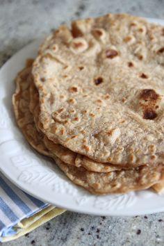 Oil-Free Whole Wheat Tortillas